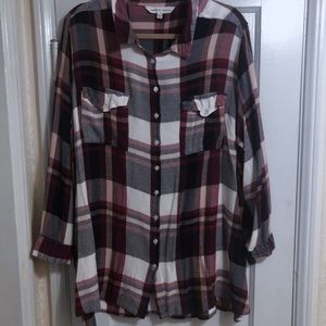 Plus Size Capsule Plaid Shirt
